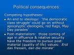 political consequences