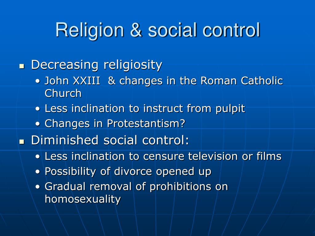Religion & social control