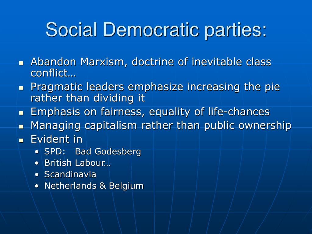 Social Democratic parties: