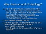 was there an end of ideology