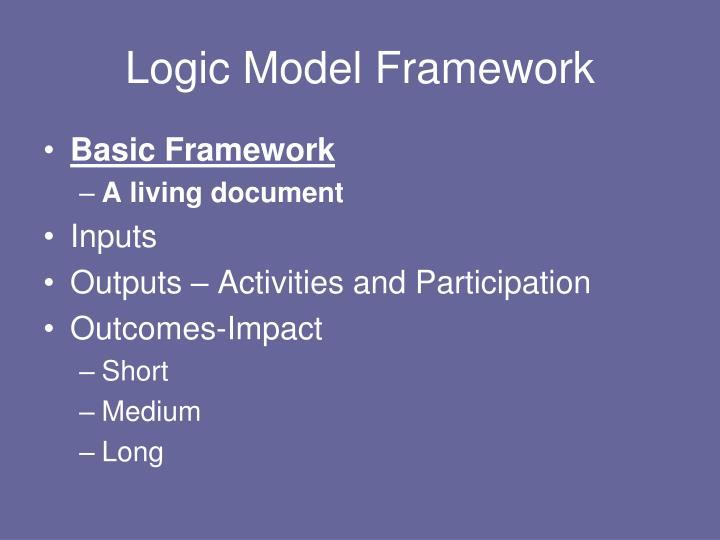 Logic Model Framework