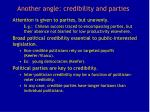 another angle credibility and parties