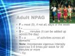 adult npag