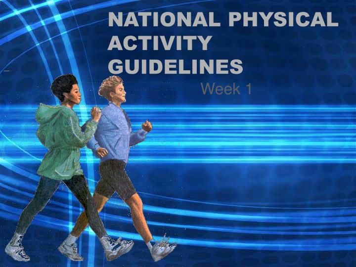 national physical activity guidelines n.