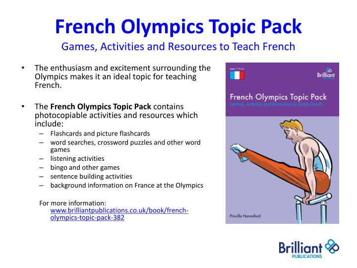 French Olympics Topic Pack