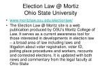 election law @ mortiz ohio state university