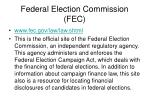 federal election commission fec