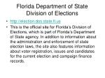 florida department of state division of elections