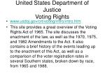 united states department of justice voting rights