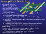 assumptions terminology