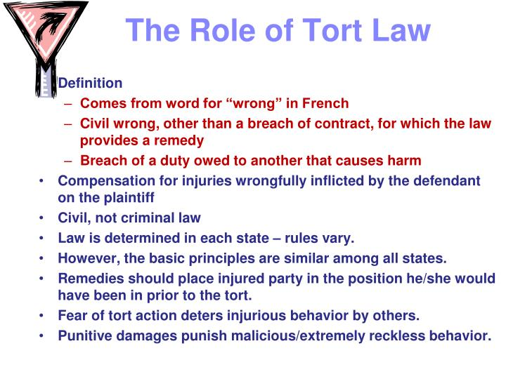conclusion of tort and negligence The majority of legal actions filed in united states courts are predicated on two theories: breach of contract (involving a violation of an obligation assumed by a person under a written or oral agreement) and actions based on tort.