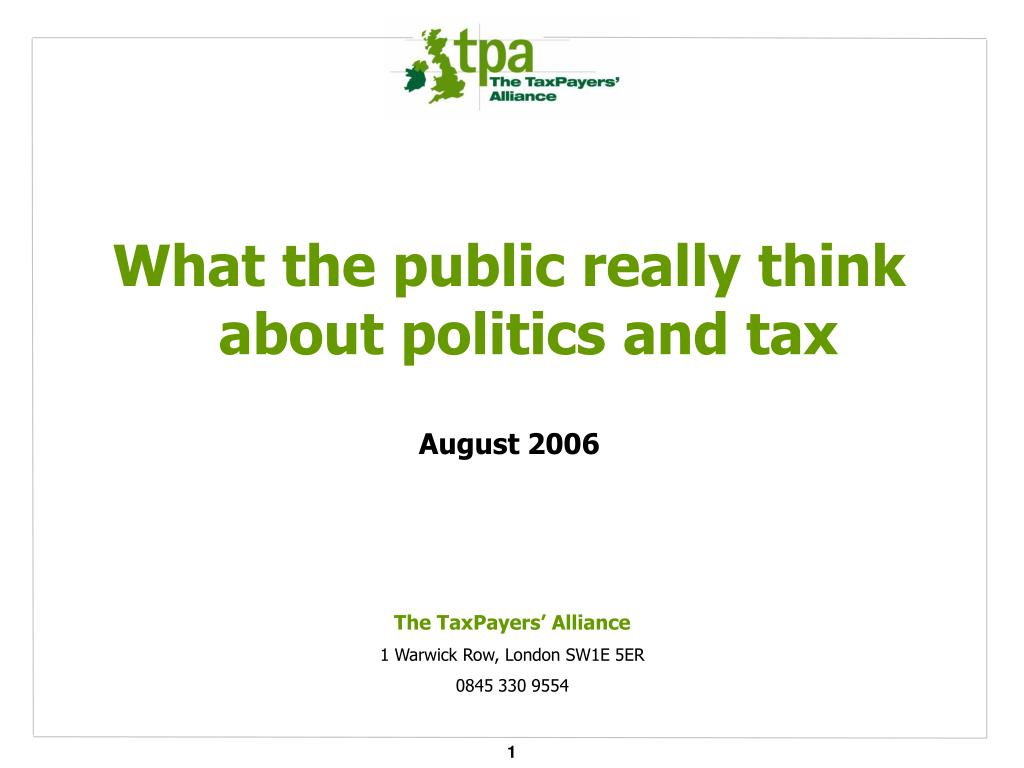 What the public really think about politics and tax