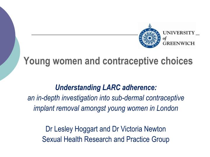 young women and contraceptive choices n.