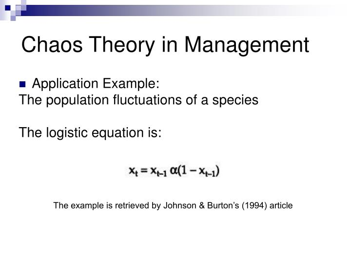 chaos theory management