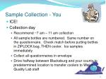 sample collection you