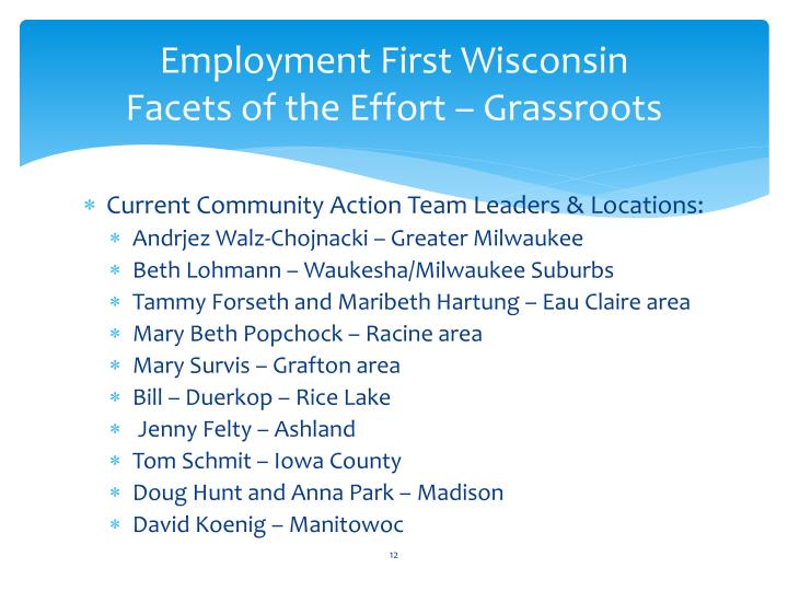 Employment First Wisconsin