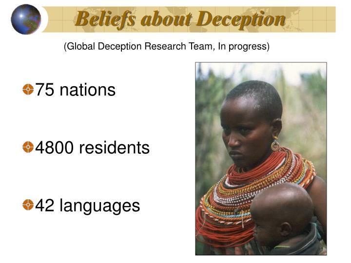 Beliefs about Deception