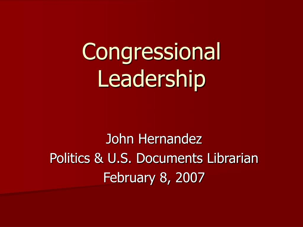 congressional leadership l.