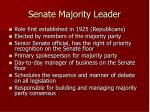 senate majority leader