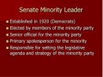 senate minority leader