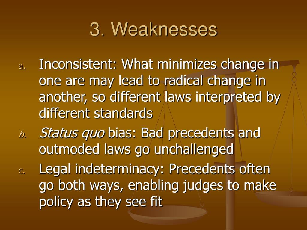 3. Weaknesses