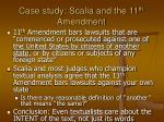 case study scalia and the 11 th amendment