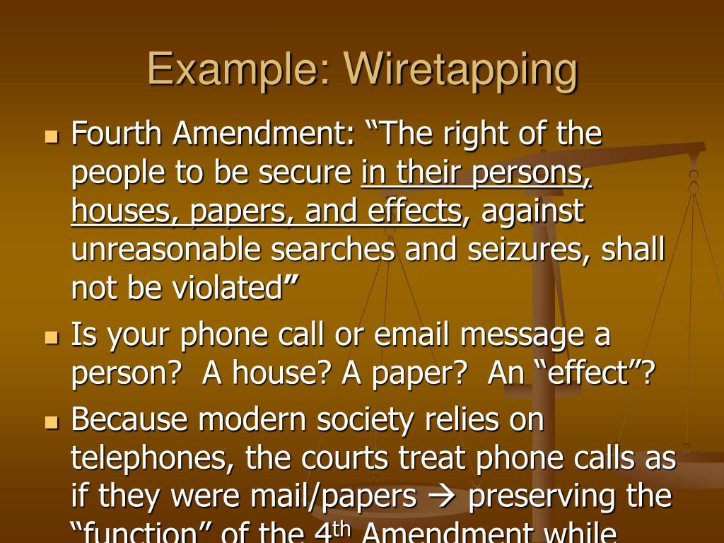 Example: Wiretapping