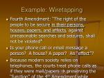 example wiretapping