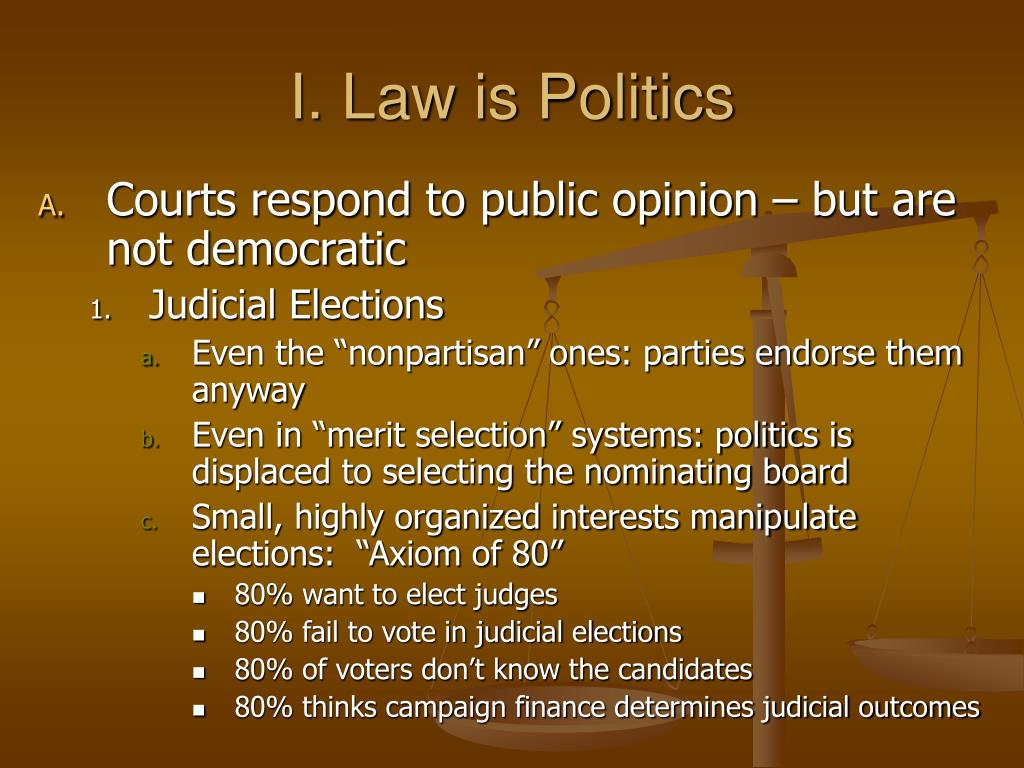 I. Law is Politics