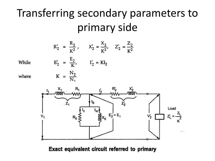 Transferring secondary parameters to primary side