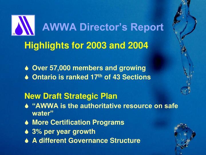 AWWA Director's Report