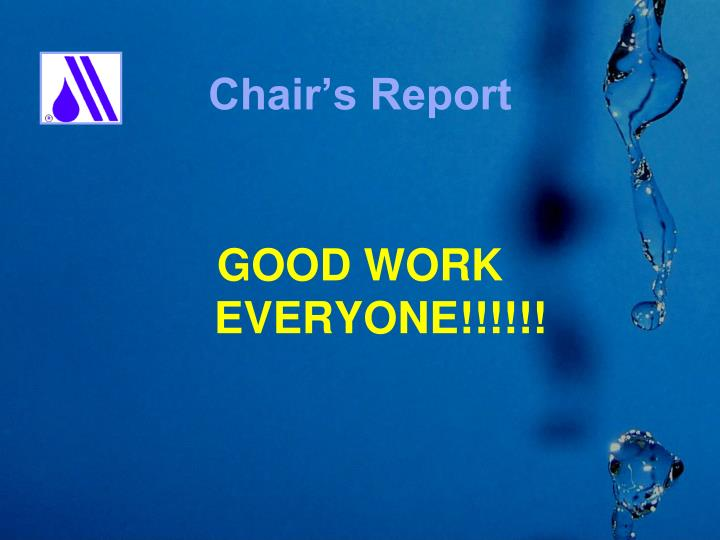 Chair s report