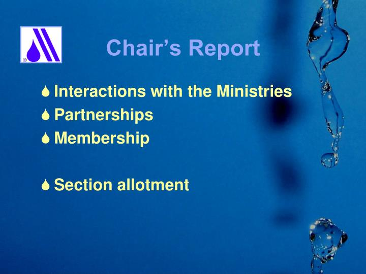 Chair s report1