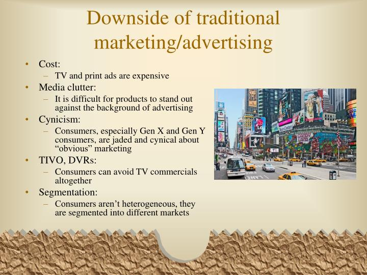 Downside of traditional marketing advertising