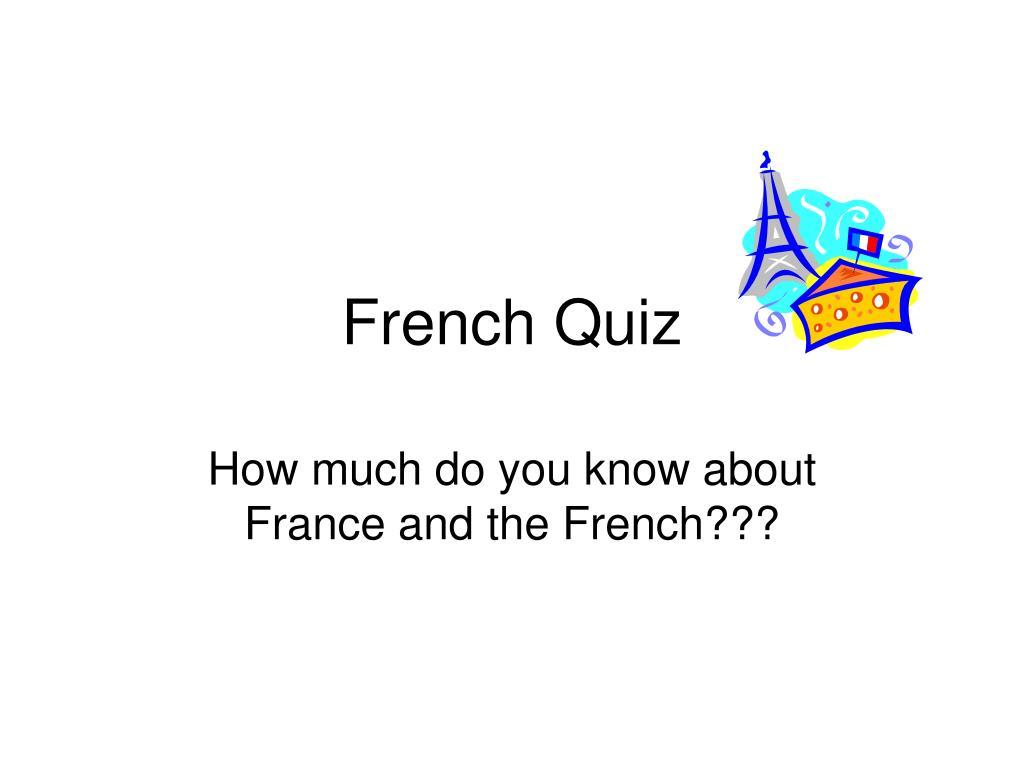 french quiz l.