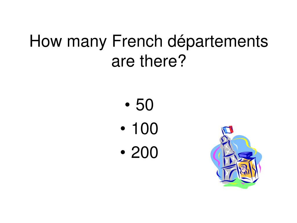 How many French départements are there?