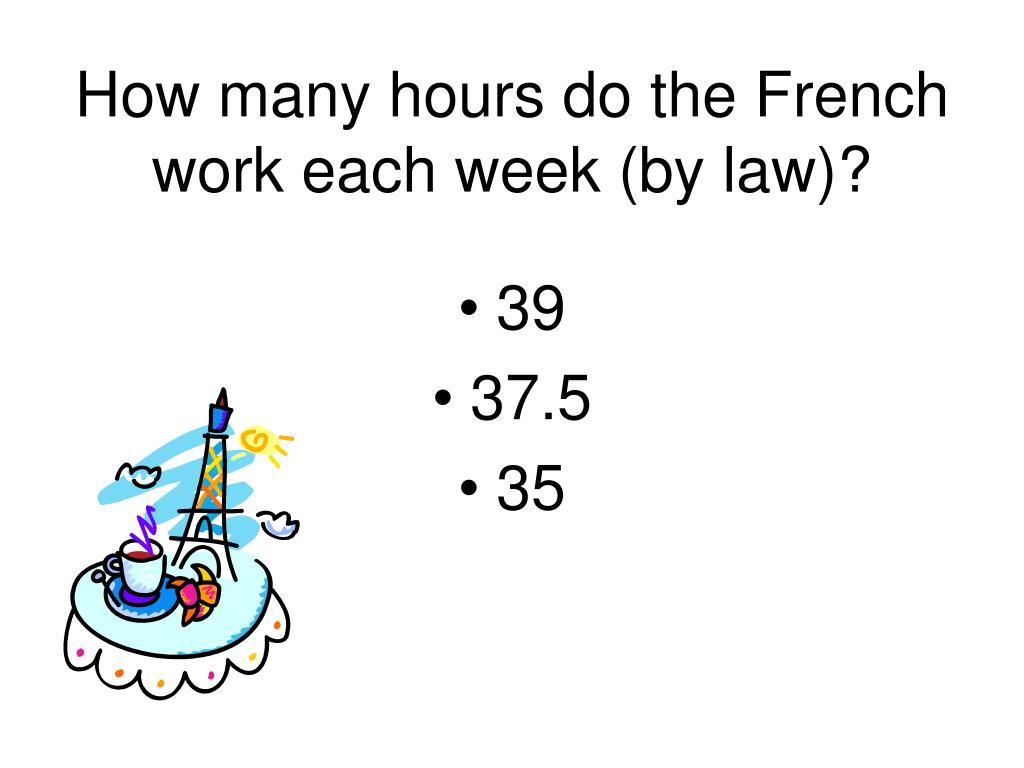How many hours do the French work each week (by law)?