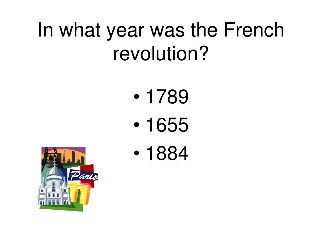 In what year was the French revolution?