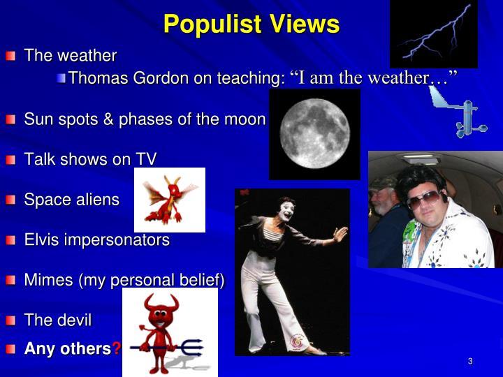 Populist views