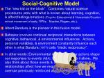 social cognitive model