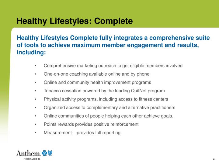 Healthy Lifestyles: Complete