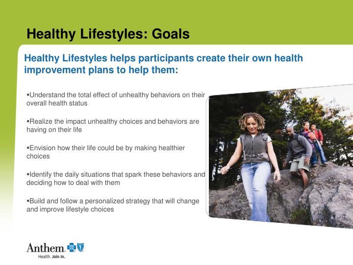 Healthy lifestyles goals
