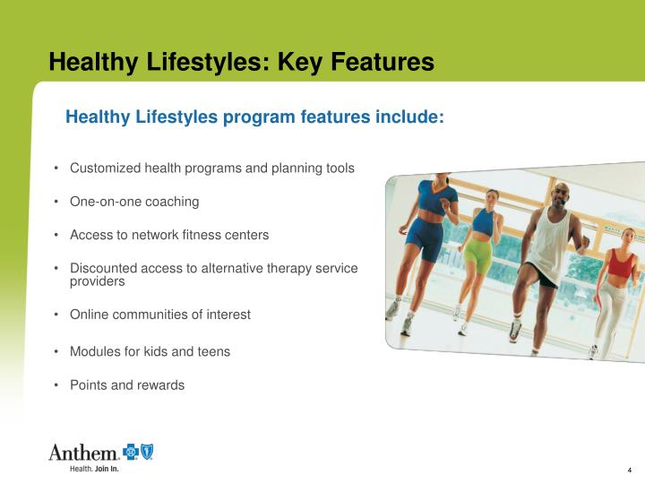 Healthy Lifestyles: Key Features