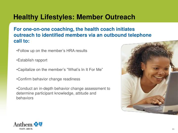 Healthy Lifestyles: Member Outreach