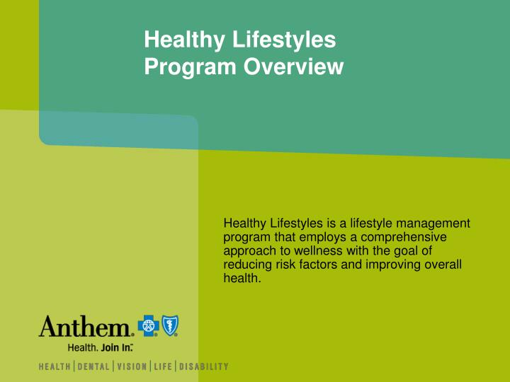 Healthy lifestyles program overview