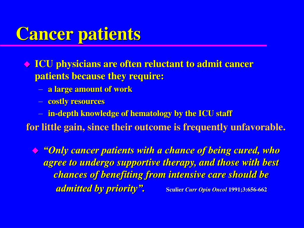 PPT - Can We Justify ICU Refusal for Cancer Patients