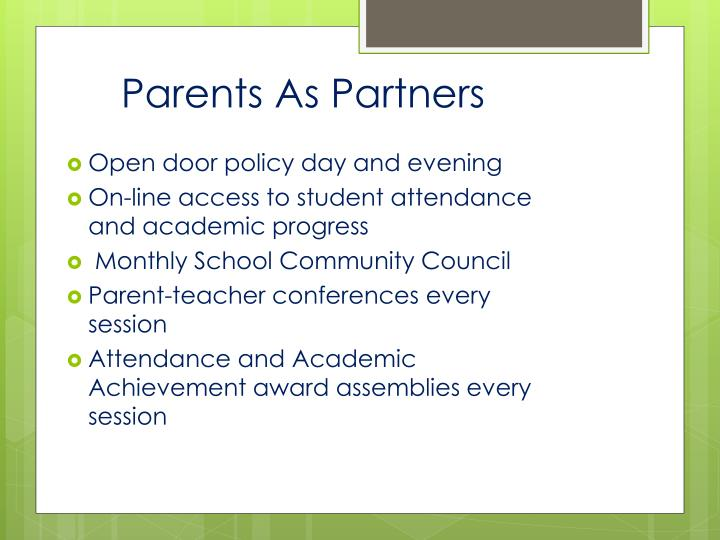 Parents As Partners