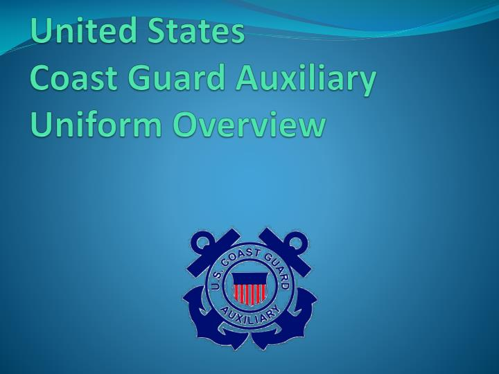 united states coast guard auxiliary uniform overview n.