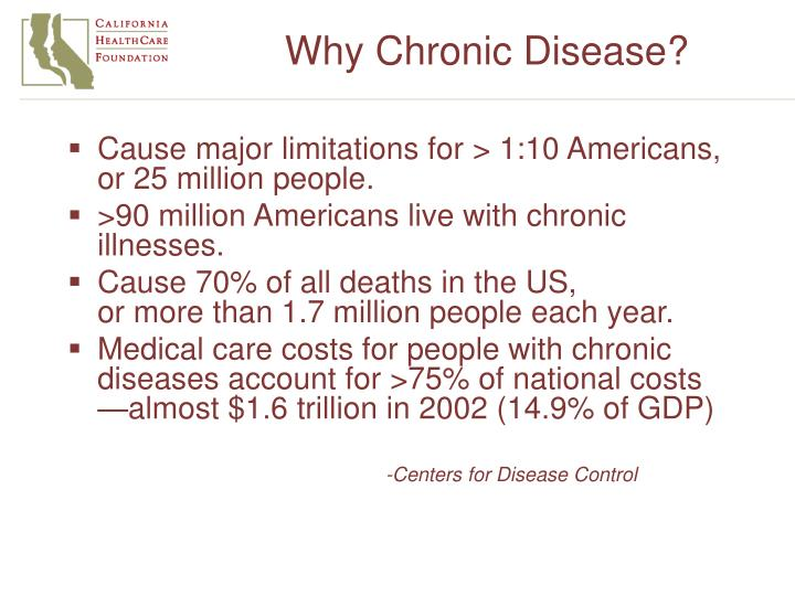 Why chronic disease