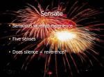 sensate